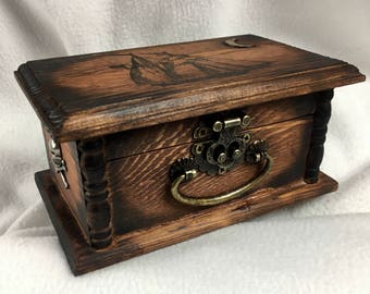 Old Fashioned Wooden Box