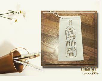 Drawstring Wine Tote