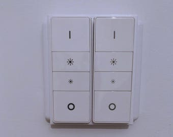 Philips Hue Dimmer UK Double Light Switch Adaptor / Cover