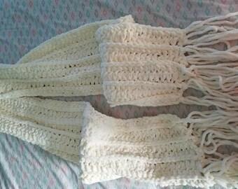 Fluffy scarf!