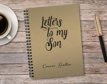 Letters to my Son, Diary, Bullet Journal, Baby Shower Gift, Journal, Notebook, Gift for Mother, Baby Shower, Laminated Covers, 50 sheets