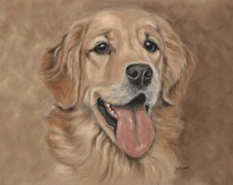 Golden Retriever - Dog Lover Gift - Golden Retriever Art - Golden Retriever Print - Dog Picture - Dog Print - Golden Retriever Picture