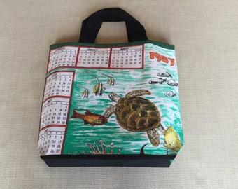 Tote bag, reversible, handmade from souviner tea towel