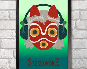 Princess Stereonoke print + 3 for 2 offer! size A3+  33 x 48 cm;  13 x 19 in
