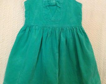 Size 4 green corduroy dress