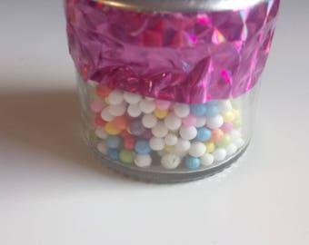 Foam beads (rainbow)