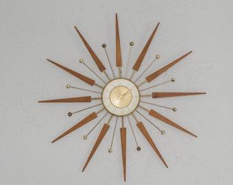 Midcentury Modern Starburst Wall Clock
