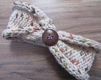 Knitted Headband & Baby Booties Set