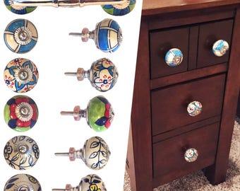 Ceramic Knobs, Door Pulls - Door Handles Cabinet Pulls Dresser Knobs Kitchen Cabinets Drawer Pulls - Cabinet Handles Cabinet Hardware