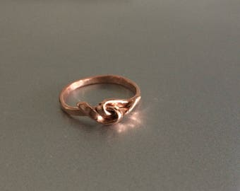 Copper Twisted Knot Ring