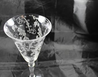 "Cambridge Glass Elaine 10oz. Water 8 3/8"" ONE"