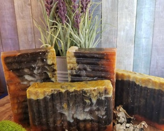 Gilded Goat Mens Soap: Cashmere & Sandalwood Carrot Cucumber and Aloe Vera