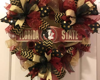 Custom College Team Wreath