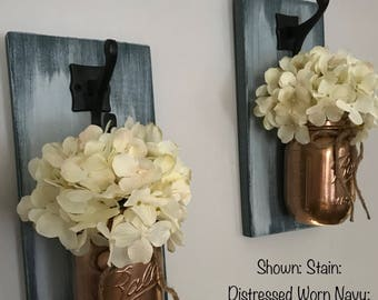 Hanging Mason Jar Sconces/Single Mason Jar Sconce/Sconce/Sconces/Farmhouse Decor/Mason Jar Decor/Rustic Home Decor