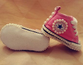 Be Mine, Pink Converse, Glitter and Pearls