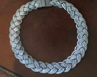 Art Deco silver necklace