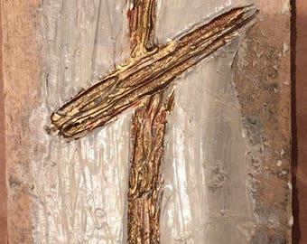 Cross on reclaimed wood