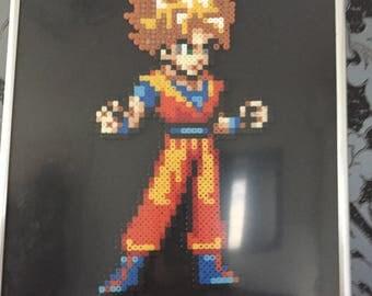 Dragon Ball Z frame - Wall decoration - Goku Super Saiyan - Can be personalised