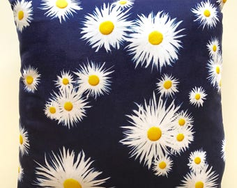 Beautiful Faux Suede Cushion - Crazy Daisies