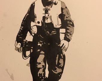 Star Wars Poe Dameron Painting