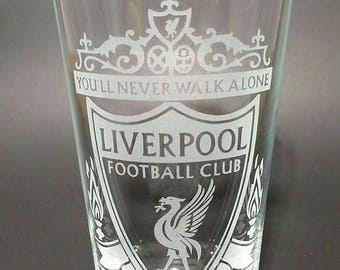Custom - Personalized - Etched Pint Glass