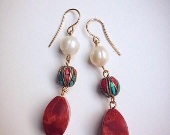 Oriental style earrings.