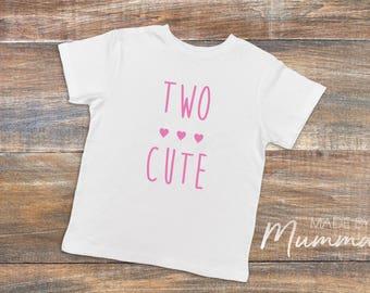 Two Cute, Second Birthday, Two, Custom Children's T-Shirt