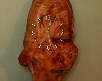 Wall hanging Burr Clock