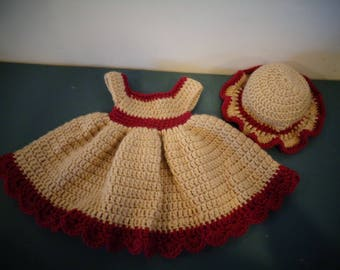 Preemie Dress with Hat
