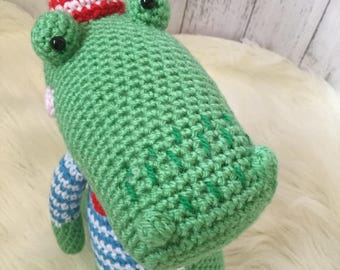 Crochet Alligator, crochet toy, Amigurumi, alligator, birthday present