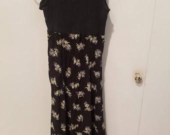 Vintage Flower Maxi Skirt