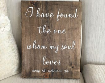 Rustic decor sign- Song of Solomon 3:4