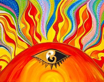 Sun Goddess / Acrylic Painting / Art Print