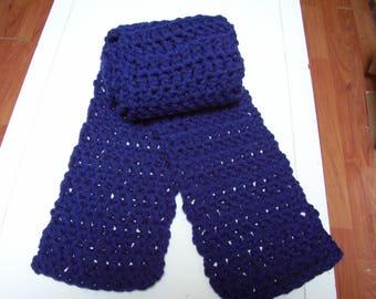 Crocheted Scarf, Handmade Scarf, Warm Scarf, Adult Scarf, Long Scarf