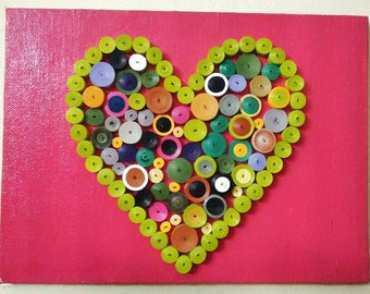 Heart shaped quilling art