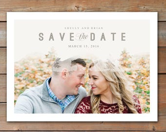 Save the Date Announcement, Save the Date Magnet, Save the Date Postcard, Forest Save the Date Announcement