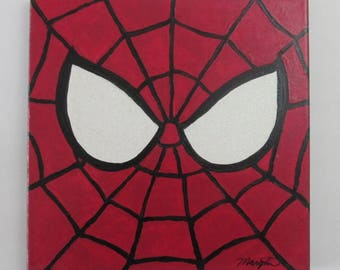 "Spiderman Canvas Acrylic Wall Art Painting 10"" x 10"""