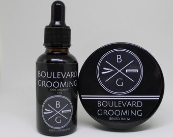Beard Oil (SPEARMINT SCENT) and Beard Wax Bundle