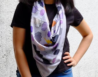 Thunder Scarf, Soft Voile Printed Scarf for Woman