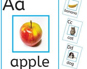 EYFS KS1 Photo Alphabet PDF Posters/Flashcards Printable Educational Resource