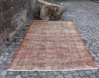 Free Shipping Turkish Rug 5.7 x 8.8 ft. alfombra turca large area rug aztec rug pale red color wool rug rustic rug tribal rug boho rug MB196
