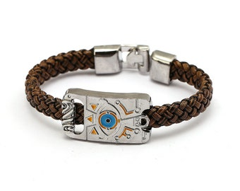 Legend of Zelda Sheikah Slate Inspired Leather Wristband / Bracelet