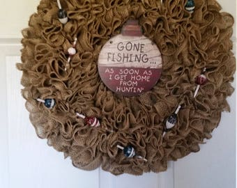 Gone Fishin' Wreath
