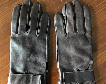 Vintage Brown Leather Gloves—Old Brown Leather Gloves—Vintage Brown Leather Driving Gloves—Vintage Brown Gloves—Brown Vintage Leather Gloves