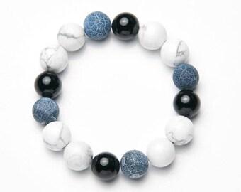 Mens-Women Bracelet * Black & white */mens-Womens Bracelet * Black white *