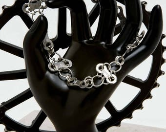 Bicycle Chain Cross Bracelet