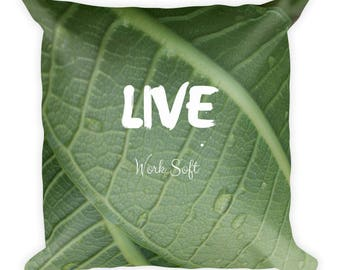 Live Leaf Square Pillow