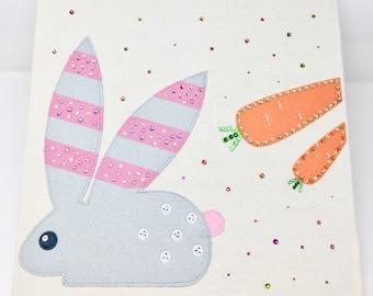 Baby Bunny Canvas Storage Box
