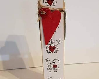 Valentines Day Love Decorative Peg Clothespin Memo Note Photo Holder Magnetic