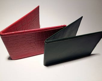 Leather wallet - Origami inspired